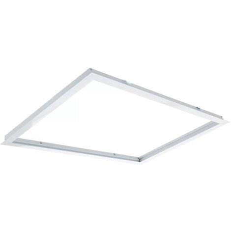 Cadre Encastré pour Panneau 60X60 Blanc | IluminaShop