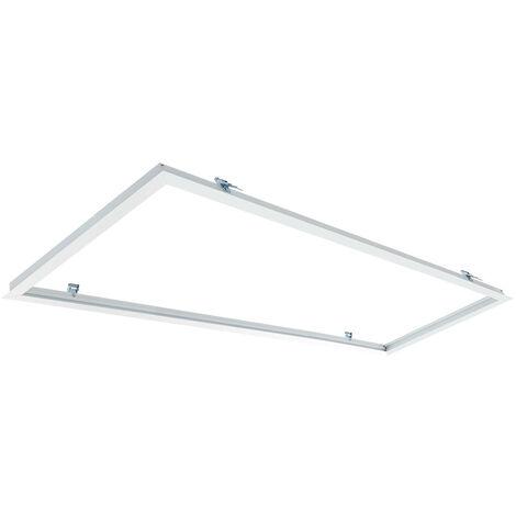 Cadre Encastré pour Panneaux LED 120x30cm Blanc - Blanc