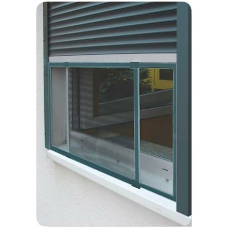 Cadre extensible moustiquaire pour fenêtres et volets anthracite 50x75-142cm EDM 75892