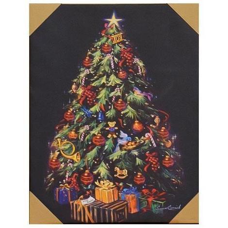Cadre Lumineux Noel 17 Leds Design Sapin Decore 508x66x25 Cm Aucune
