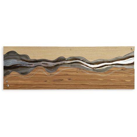 Cadre métallique avec inserts en bois cm H120xL40xS2 Artedalmondo AM018X1