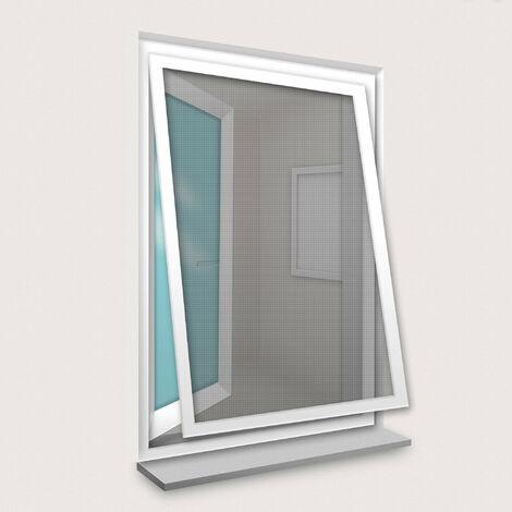 Cadre Moustiquaire pour Fenêtre 120x150 cm Blanc