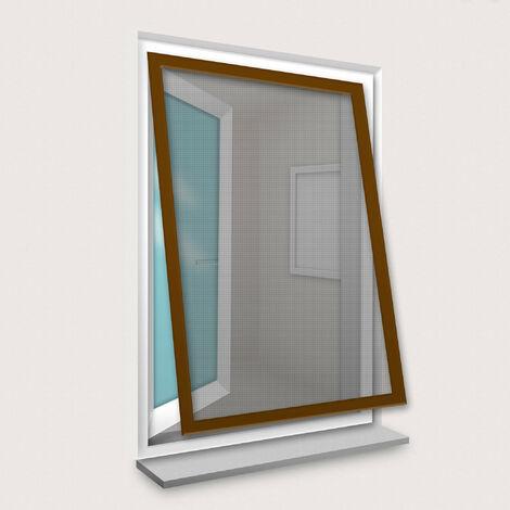 Cadre Moustiquaire pour Fenêtre 120x150 cm Brun