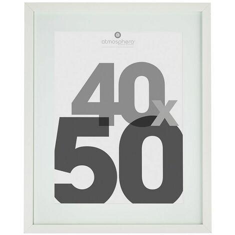Cadre photo avec Marie-Louise 40x50 cm - blanc - Atmosphera - Blanc