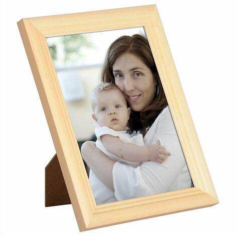 cadre photo en bois et réelle lentille en verre avec Artos style de couleur naturelle 10x15 cm (ensemble de 3)