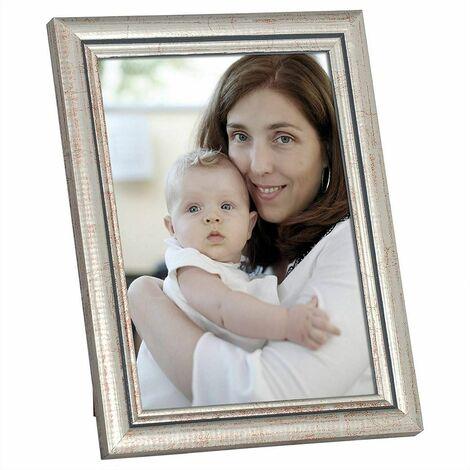 cadre photo en bois et réelle lentille en verre avec de l'argent de style Artos 20 cmx30 cm (ensemble de 5)