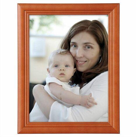 cadre photo en bois et réelle lentille en verre avec un style Artos brun A4 21x29,7cm (ensemble de 5)