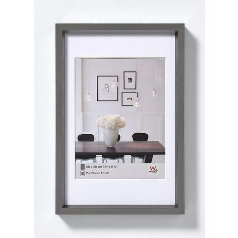 Cadre photo imitation acier Steel Style - 30 x 40 cm - Gris