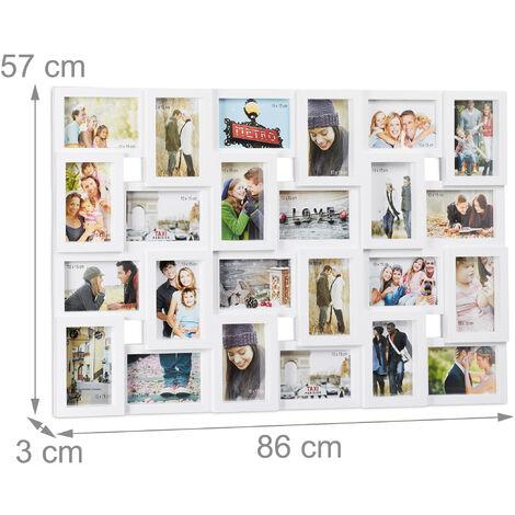 16 photos coloris al/éatoire Cadre photo p/êle-m/êle sur pied forme chevalet