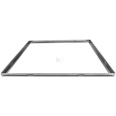 Cadre pour grille caillebotis industriel galvanisé 1000x1200x30mm