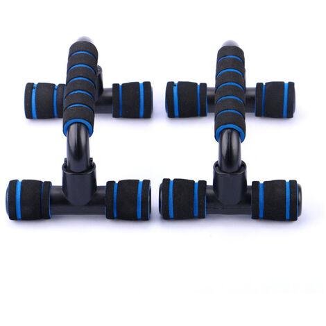 Cadre push-up en forme de I Poignee de soutien push-up en forme de H Exercice Dispositif de push-up des muscles de la poitrine Appareil de fitness push-up jaune