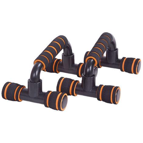 Cadre push-up en forme de I Poignee de soutien push-up en forme de H, exercices des muscles de la poitrine, pompes, equipement de fitness push-up, bleu