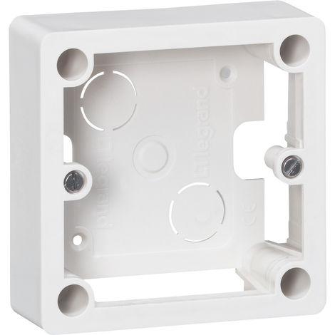 Cadre saillie 1 poste pour socle et sortie de câbles 100x100x36 mm