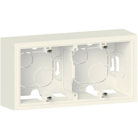 Cadre saillie 2 postes dooxie finition blanc emballage blister (095293)