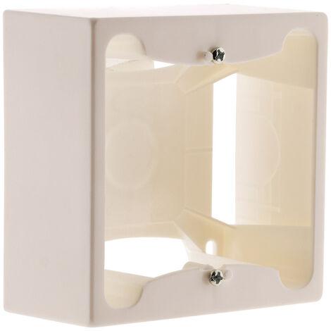 Cadre saillie 80 x 80 x 40 entraxe 60 mm blanc - Zenitech