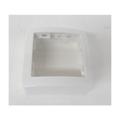 Cadre saillie Alréa standard simple 62x62mm Prof. 31mm Blanc polaire - Schneider Electric