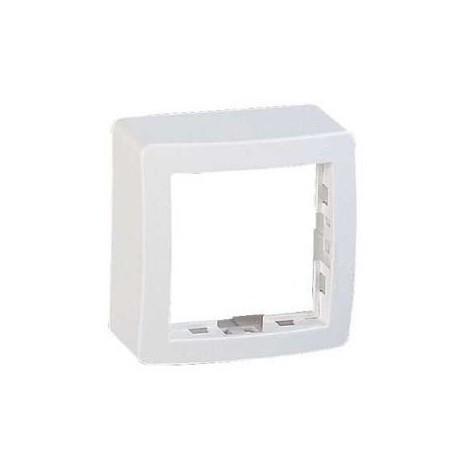 Cadre saillie blanc standard simple 62X62X31mmm pour pose appareillage mural ALREA SCHNEIDER ELECTRIC ALB61441