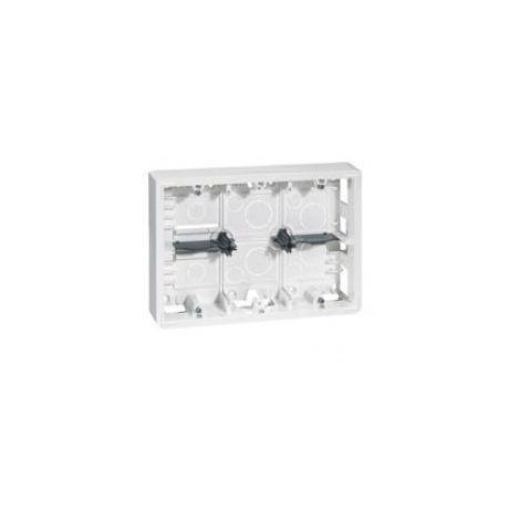 cadre saill.Mosaic blanc 2x6/8 mod 2x3 postes - pr