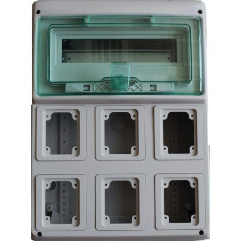 Cadre Schneider industrielle 12 modules, 6 points de vente, construit-10366