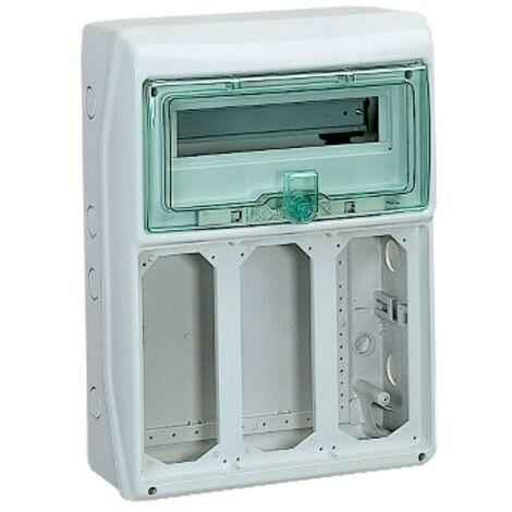 Cadre Schneider industrielle 12 modules de 3 contrefil commutateur de prises de courant 10372