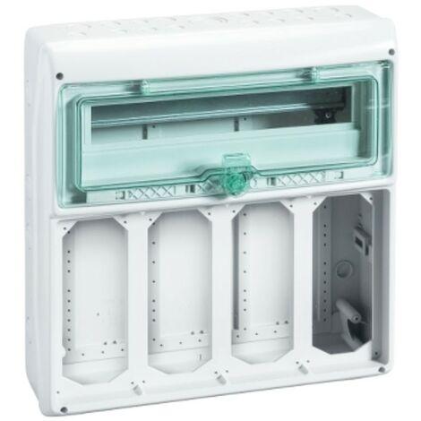 Cadre Schneider industrielle 18 modules de 4 points de vente contrefil 10373