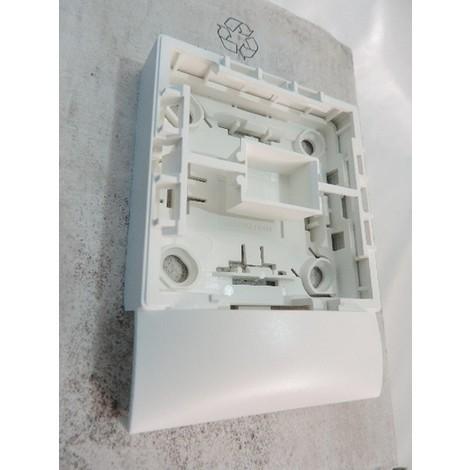 Cadre simple blanc saillie pour pose appareillage mural 1 poste Profil2 Arnould sur moulure 22X12mm KEVA PLANET WATTOHM 11814