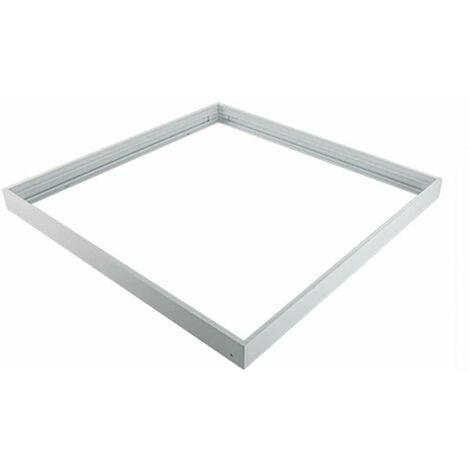 Cadre support en aluminium pour installation saillie dalle LED 600x600 Blanc