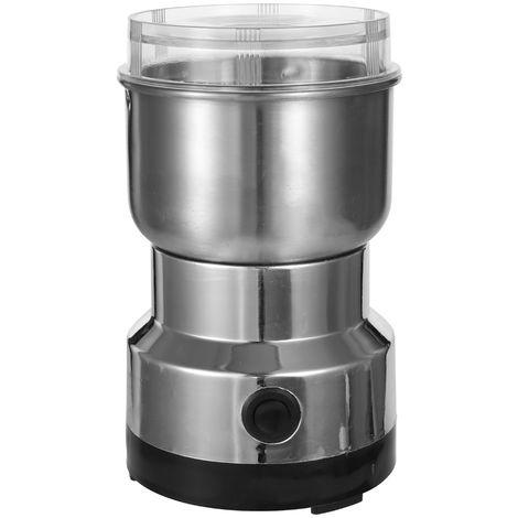Cafetera electrica de acero inoxidable, licuadora de granos, 150W 300ml