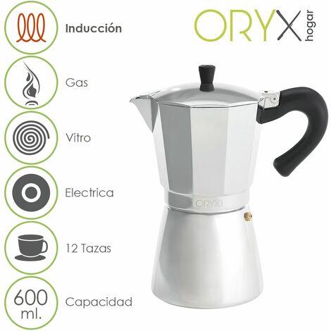 Cafetera Inducción Aluminio 12 Tazas (600 Ml.)