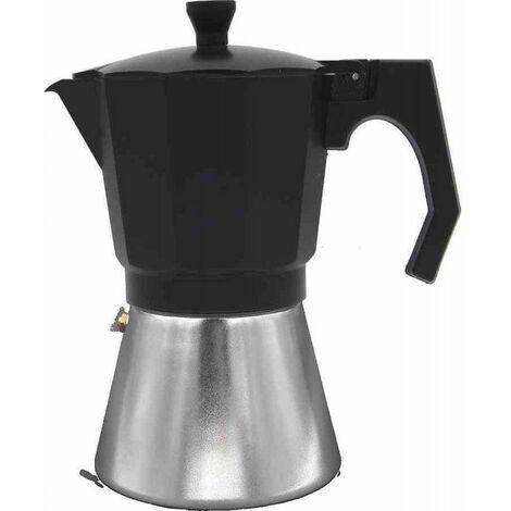 Cafetera para inducción MOKKA 6 tazas negro-aluminio de Bastilipo