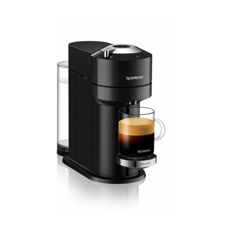 Cafetière à capsules Nespresso Vertuo Next Premium Noire 1,1L Finitions Chromées YY4297FD
