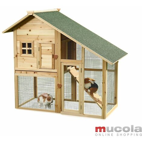 Cage à lapin, clapier petit animal clapier en bois libre enclos extérieur clapier à lapin XXL