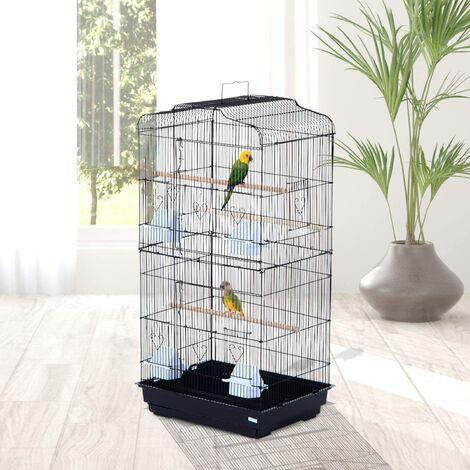 Cage à oiseau portable - Hauteur 92cm - Grande Volière en métal