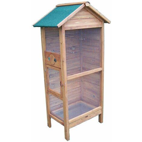 Cage à oiseaux 3-4 oiseaux / Toit bitumé