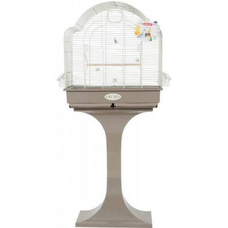 Cage à oiseaux avec pied 68 cm Coloris taupe