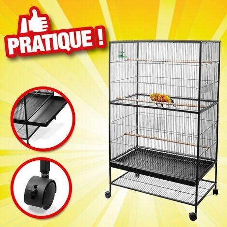 Cage à oiseaux de grande taille, 134 cm x 78 cm x 52cm