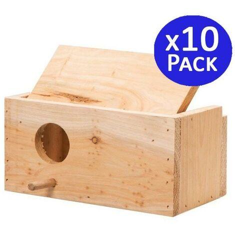 Cage à oiseaux en bois taille S.10 unités