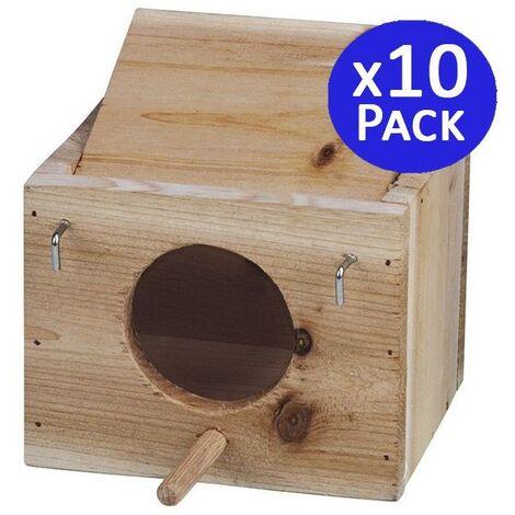 Cage à oiseaux en bois taille XS.