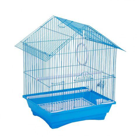 Cage à oiseaux en fer Bleu GM