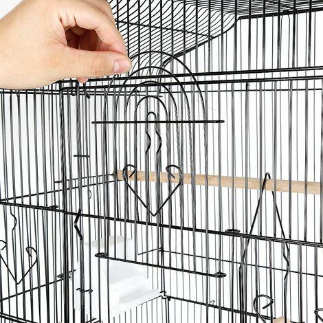 Cage a oiseaux perchee en fil Portable 46 * 36 * 93cm