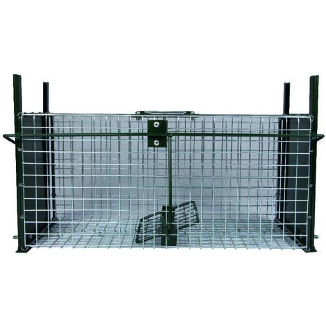 Cage à rats avec glissière, 2 entrées, 50 x 21 x 22.5 cm - BOXTRAP