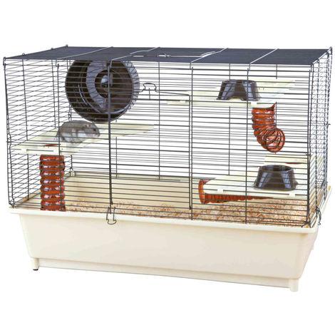 Cage avec équipement de base pour hamsters