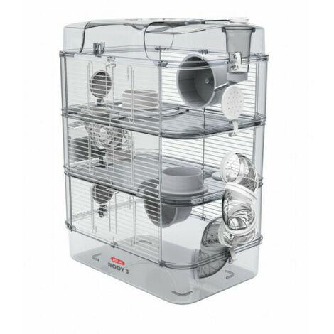 Cage avec étages et accessoires RODY 3 Zolux pour rongeurs - Coloris Blanc