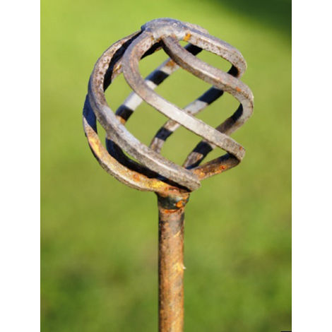 Cage Ball Pinn Support 5ft (Bare Metal/Natural Rust)
