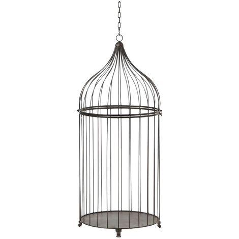 Cage canaris déco métal à suspendre 38 x 91 cm