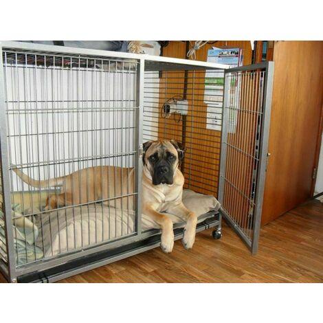 cage chien de garage support L 109,5 x P 70 x H 87,5 cm