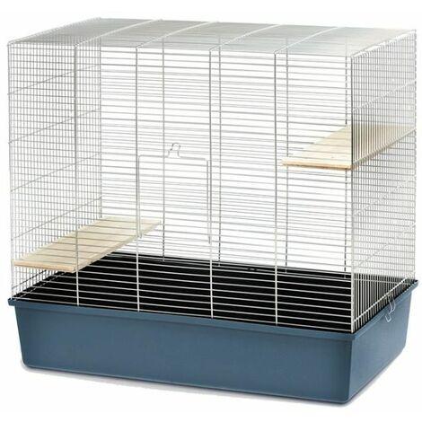 Cage Chinchilla 80 chrome/gris foncé 80x45x75cm
