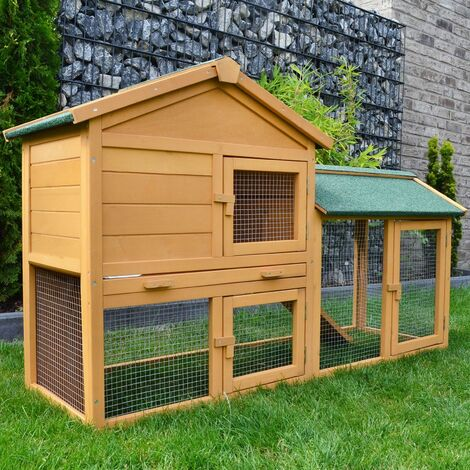 Cage Clapier Enclos lapin 145x53x86 cm Modele: 001 Villa Lapin BB LOISIR