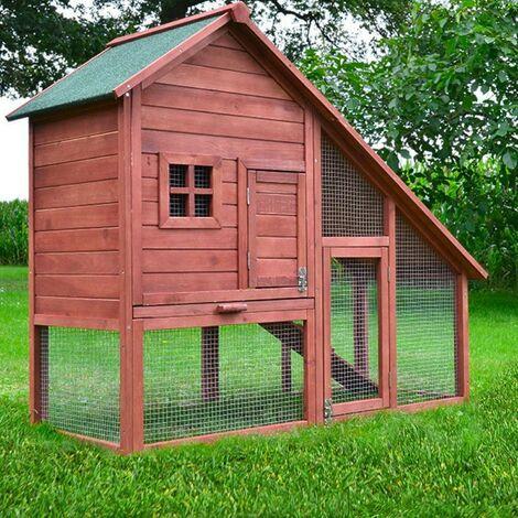 Cage Clapier Enclos lapin Extérieur en Bois de pin de Haute Qualité pour lapins petits animaux 138 x 65 x 120 cm Modèle : 032 Ferme