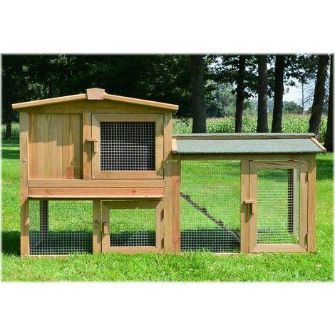 Cage Clapier Enclos lapin Exterieur en bois Haute Qualite exterieur en bois Modele 014 Maitre Lapin